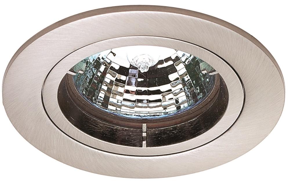 Mini Low Voltage Downlighter Fixed 35w Mr11 Gu4 Satin Nickel 60mm Diameter Liminaires