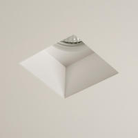 Astro Blanco Square 5655 dimmable recessed ceiling light 50W GU10 lamp Plaster