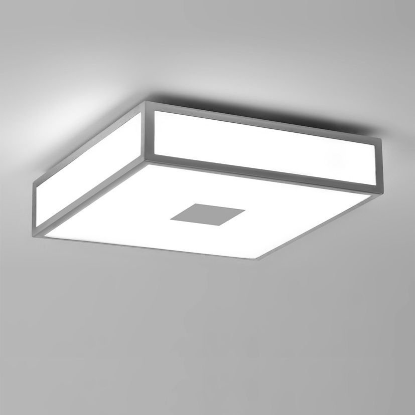 Astro Mashiko Classic 300 bathroom square Ceiling Light 0949 2 x 60W E27 Silver