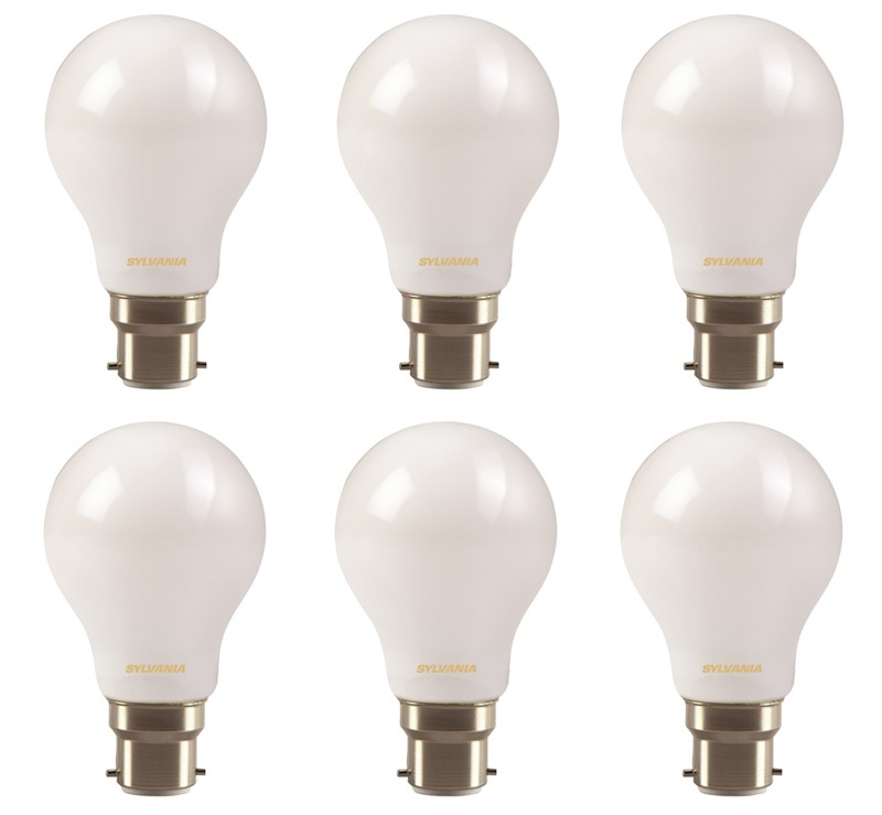 6x Clearance Sylvania LED frosted GLS light bulb 7W B22 BC 806lm 2700k Thumbnail 1
