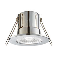 Saxby ShieldECO IP65 fire rated 4W 4000K LED dimmable bathroom downlight Chrome