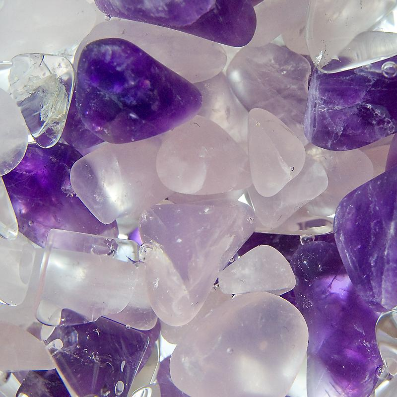 VitaJuwel ViA Wellness gempod gemstone only (rose quartz amethyst rock crystal) Thumbnail 2