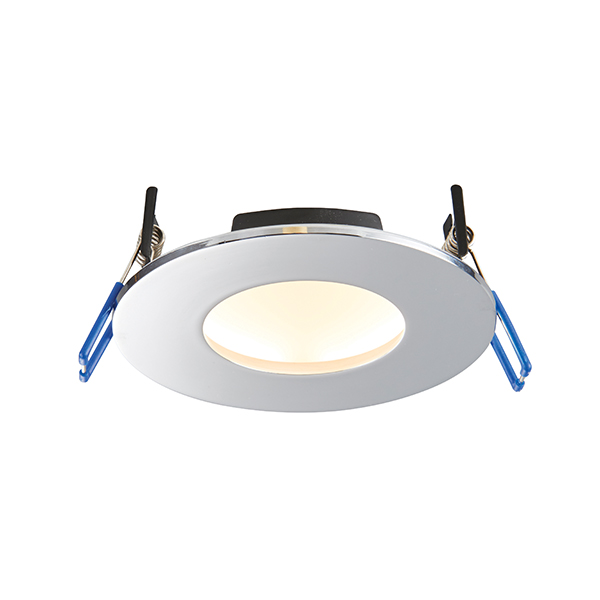 Saxby Orbitalpro Indoor Recessed Fixed Light Chrome Ip65