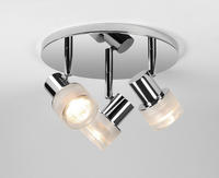 Astro Tokai bathroom Spotlight 6136 Triple round dimmable 3 x 35W GU10 chrome