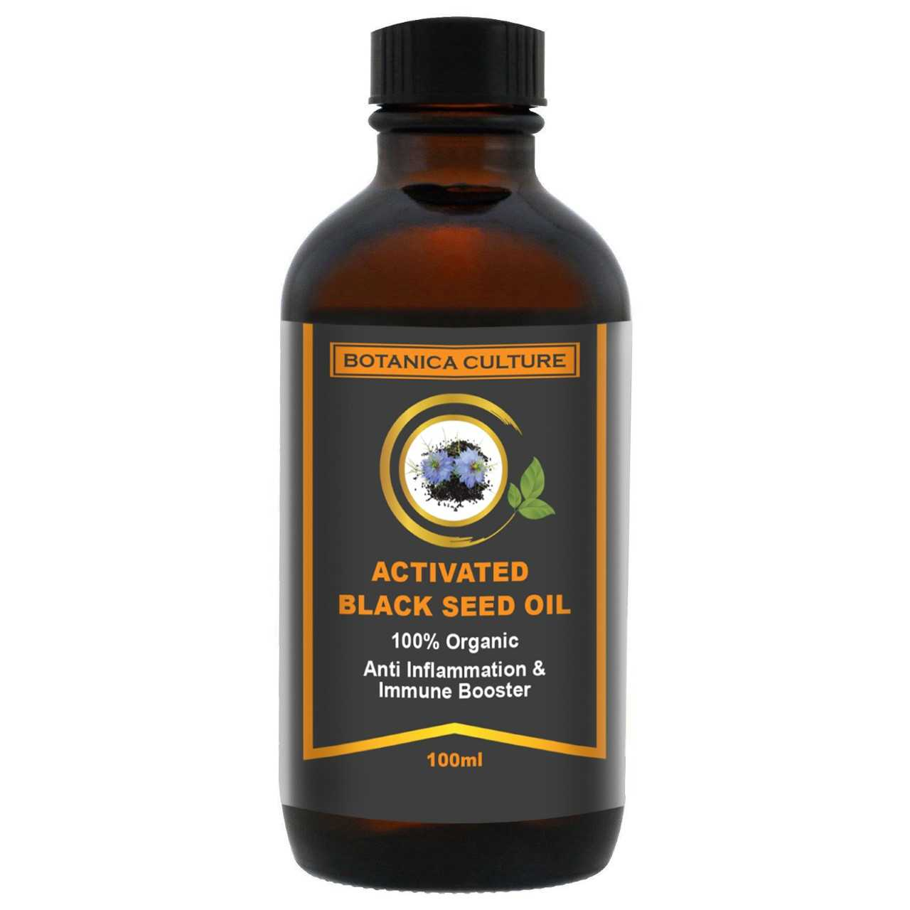 100% Organic Activated Black Seed (cumin) Oil (Nigella Sativa), 100ml Thumbnail 1