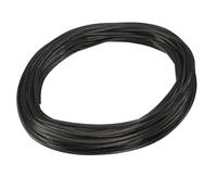 SLV Wire System black 12V Low voltage insulated copper wire 4mm per metre