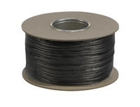 SLV Wire System black 12V Low voltage insulated copper wire 6mm per metre
