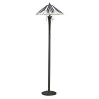 Interiors 1900 Astoria tiffany floor lamp 2 x 60W E27 GLS