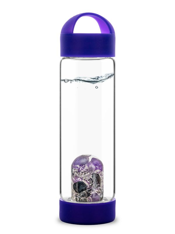 Vitajuwel NEW! LOOP for ViA glass water bottle silicone strap ONLY amethyst Thumbnail 1