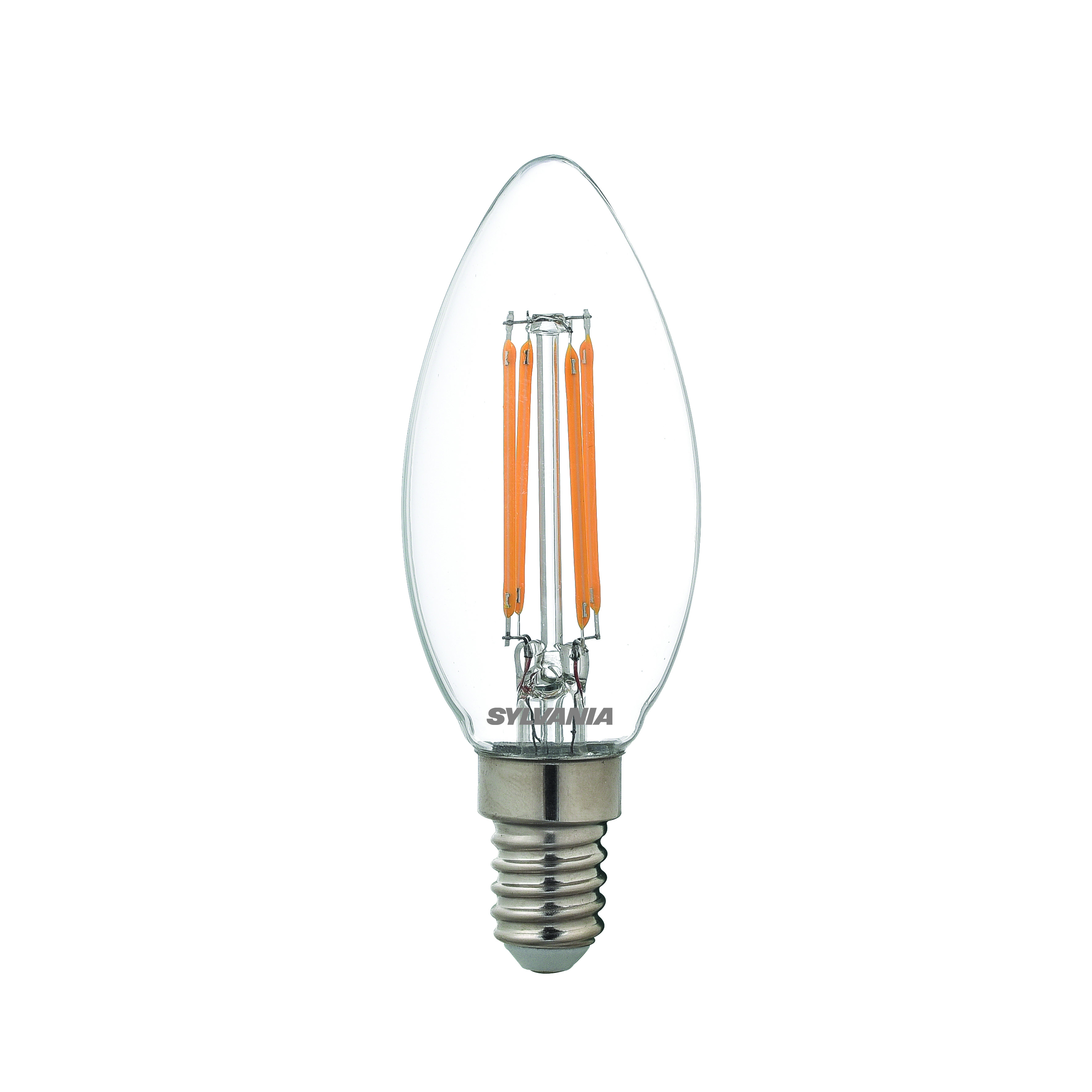 Sylvania dimmable LED candle light bulb E14 SES 4.5W = 40W 470lm warm white Thumbnail 1