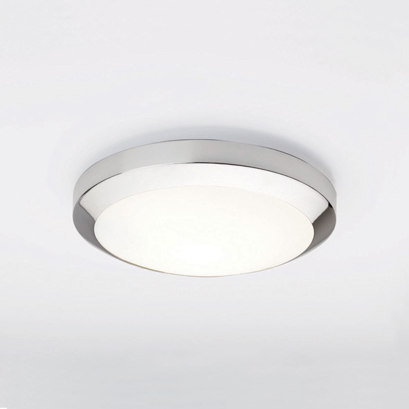 Astro Dakota Plus 300 0565 low energy saving glass ceiling light chrome 28W 2D Thumbnail 1