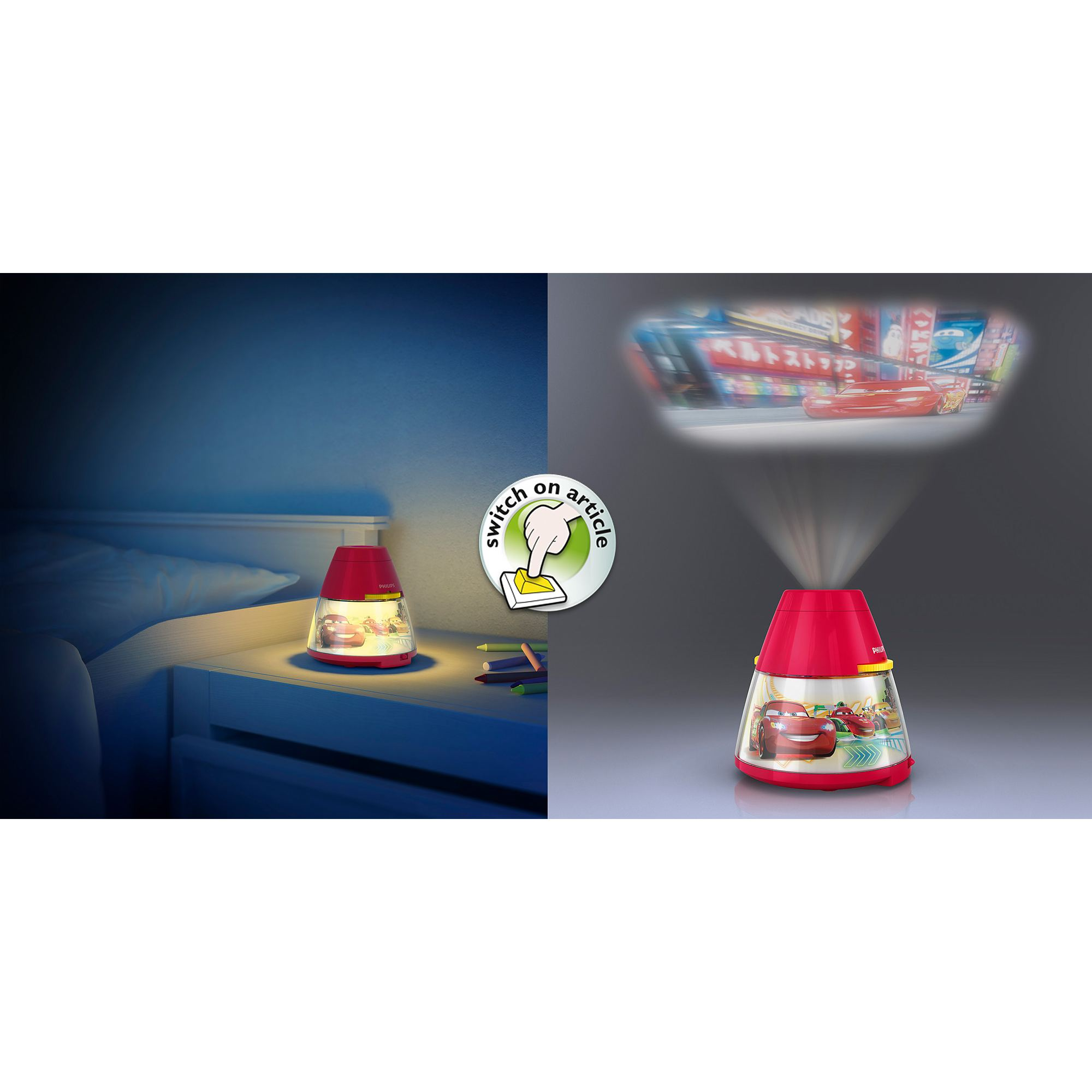 Philips Disney Cars Children S Led Night Light Projector