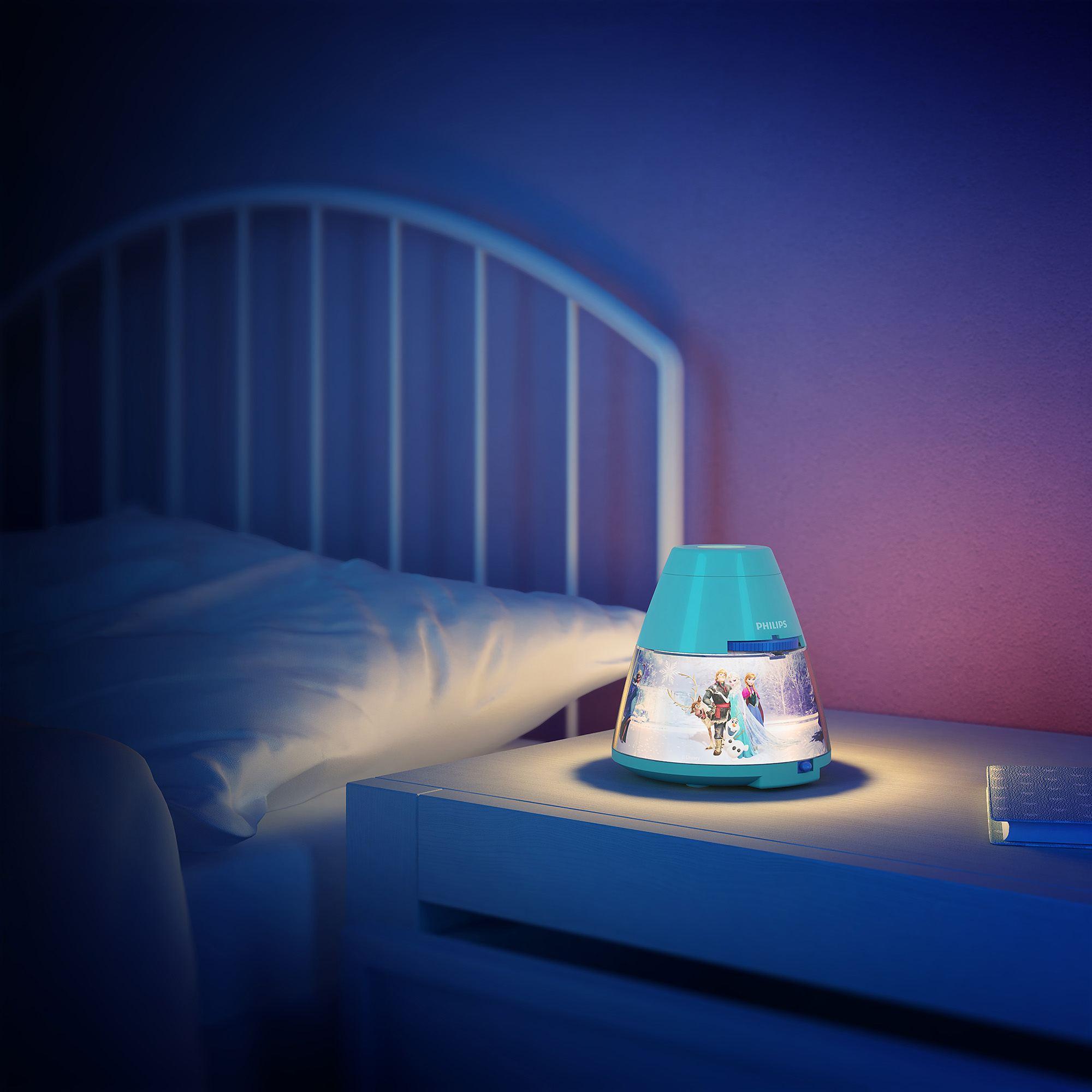 Philips Disney Frozen Children S Led Night Light Projector Portable Battery Liminaires