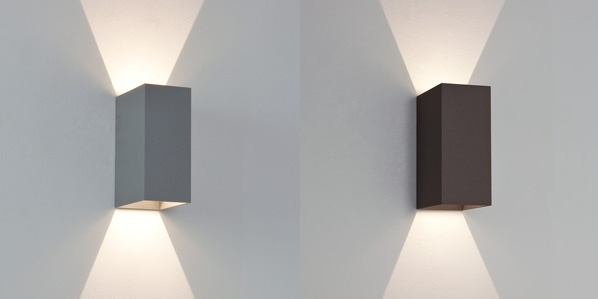 astro oslo 160 oslo exterior bathroom rectangular up down wall light 2 x 3w led ebay. Black Bedroom Furniture Sets. Home Design Ideas