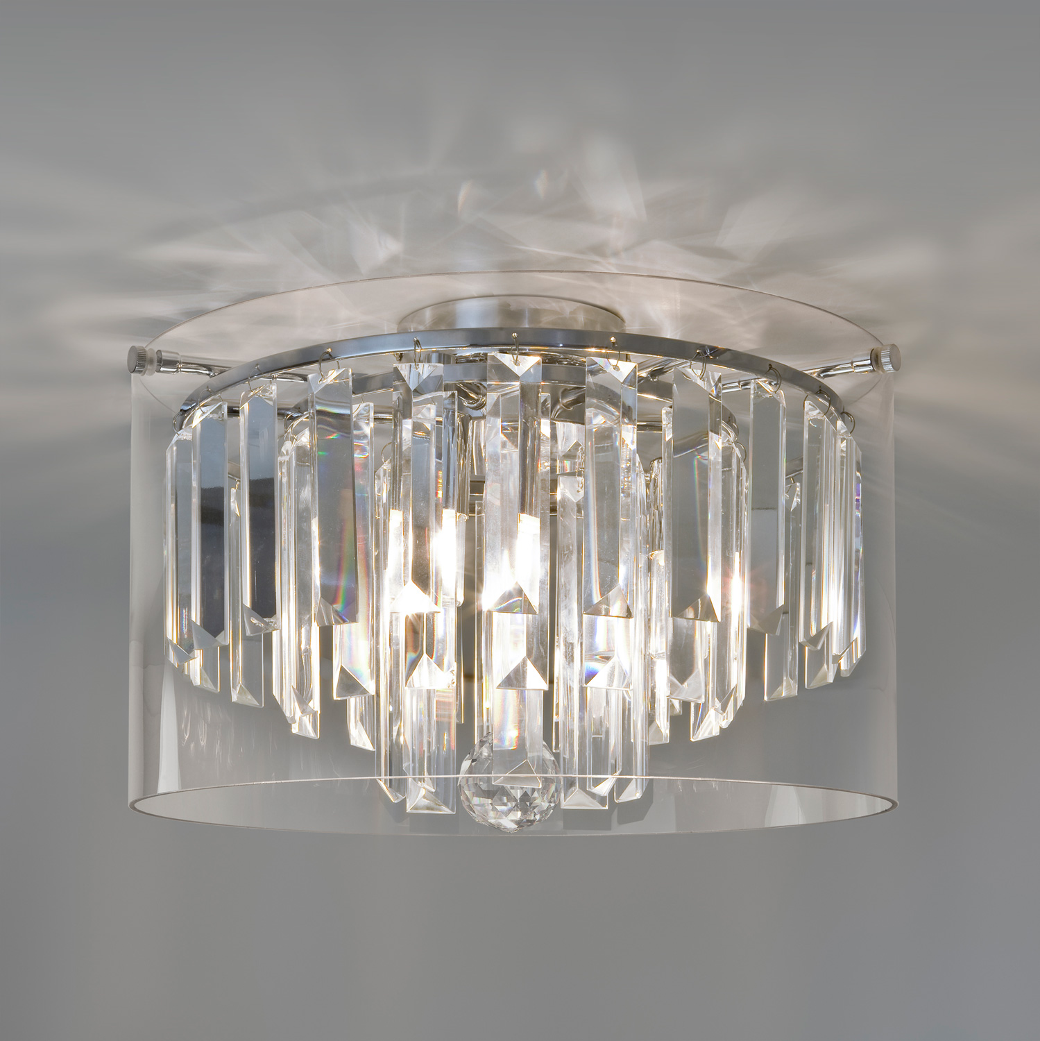 Astro Asini 7169 bathroom bedroom chandelier light 3 x 33W IP44 dimmable chrome Thumbnail 1
