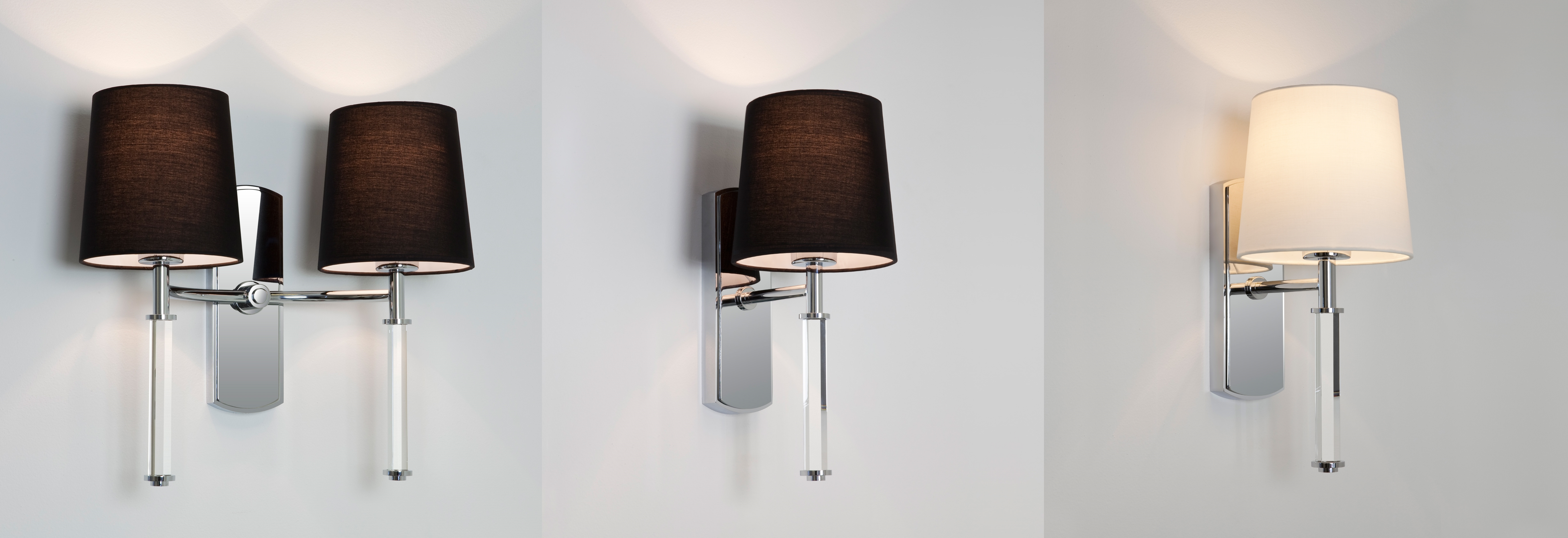 Astro delphi single or twin wall light lampshade 60w e27 polished sentinel astro delphi single or twin wall light lampshade 60w e27 polished chrome aloadofball Image collections