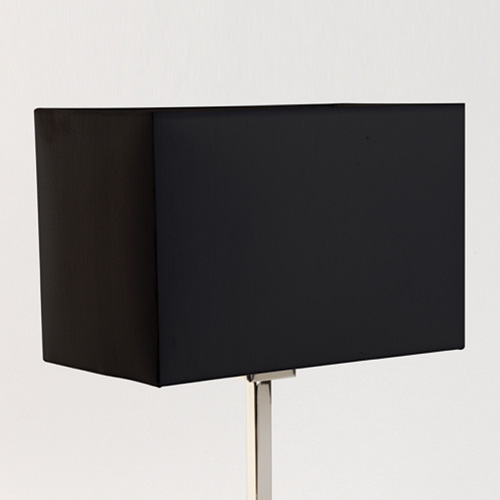 Astro Park Lane 4004 fabric rectangular lampshade for floor light black