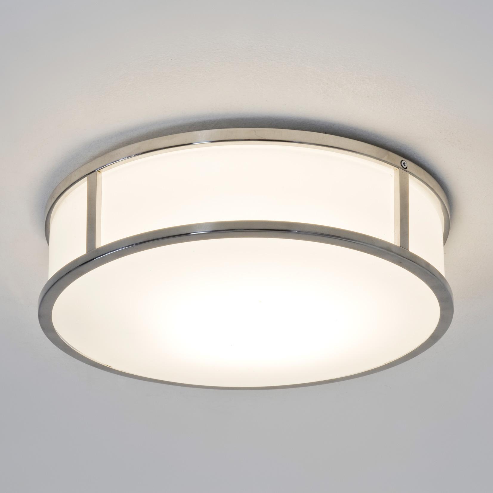 Astro Mashiko round bathroom ceiling light polished chrome ...