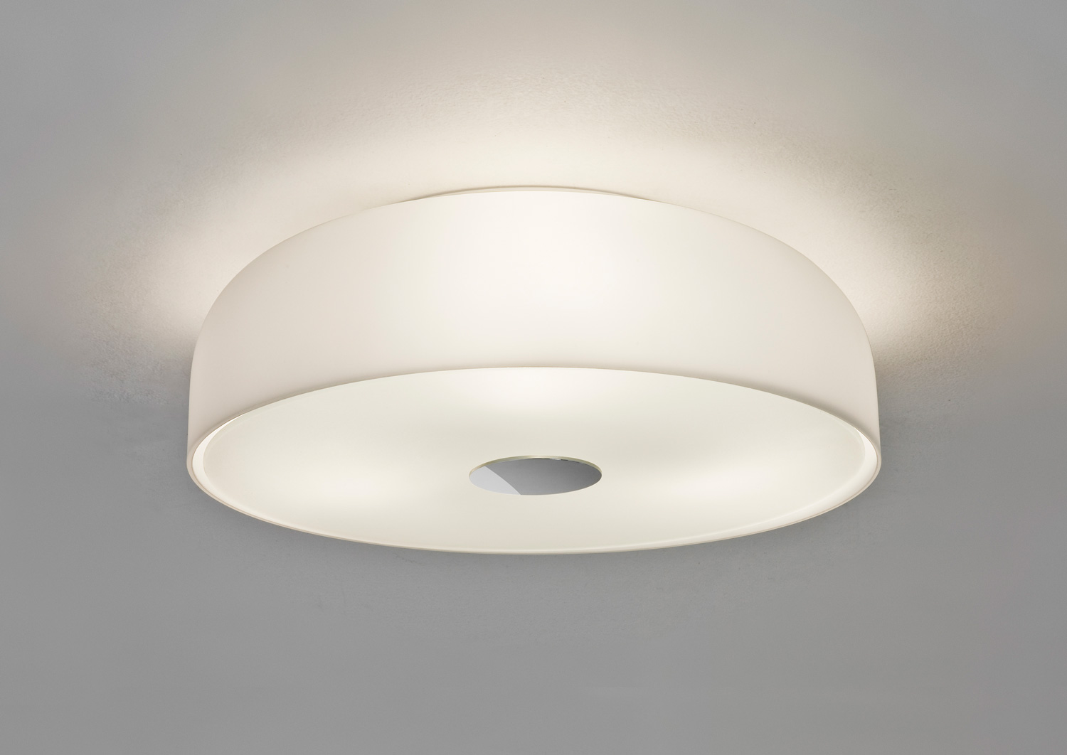 Astro Syros 350 7189 round dome opal glass bathroom ceiling light 3x40W E27 IP44 Thumbnail 1