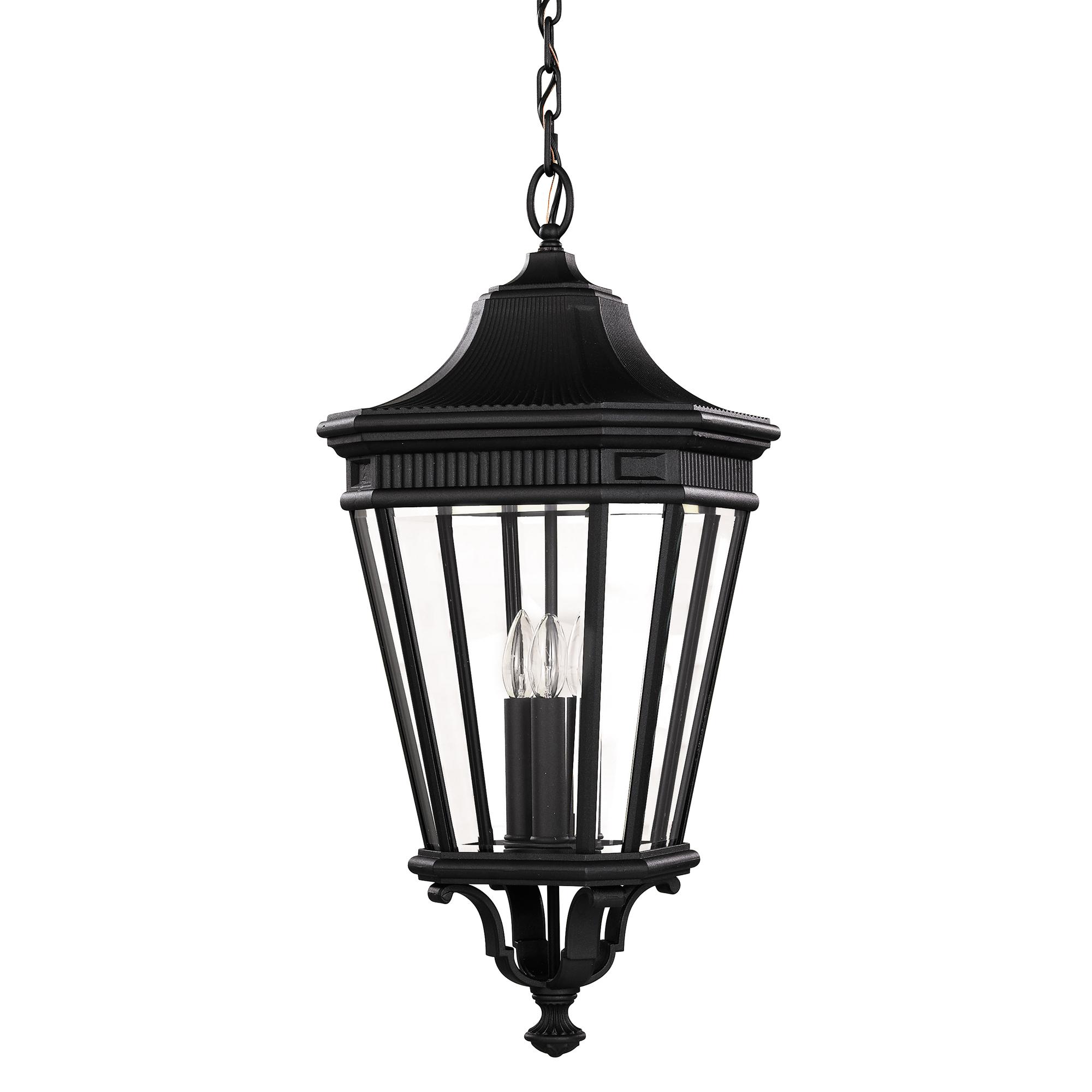 Feiss Cotswold Lane Large Chain Lantern 3 X 60w E14 220 240v 50hz Ip23 Cl