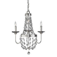 Feiss Malia 3lt Mini Chandelier 3 x 60W E14 220-240v 50hz Class I