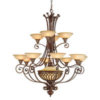 Feiss Stirling Castle 13lt Chandelier 12 x 60W E14 & 1 x E27 220-240v 50hz