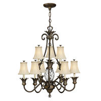 Hinkely Lighting Plantation 10lt Chandelier Pearl Bronze 10 x 60W E14 220-240v 50hz