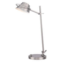 Quoizel Spencer Desk Lamp Brushed Nickel 7W LED (lamps included) 220-240v 50hz