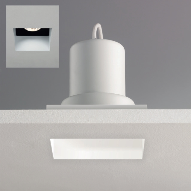 Astro Trimless square 5670 240V fire rated bathroom downlight 50W GU10 IP65 Thumbnail 2