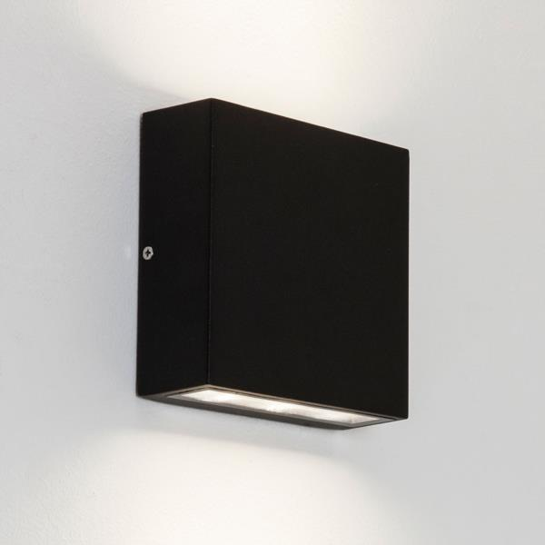 Sentinel Astro Elis Twin IP54 LED Rectangular Outdoor Wall Lights Up Down  6W E27 Black