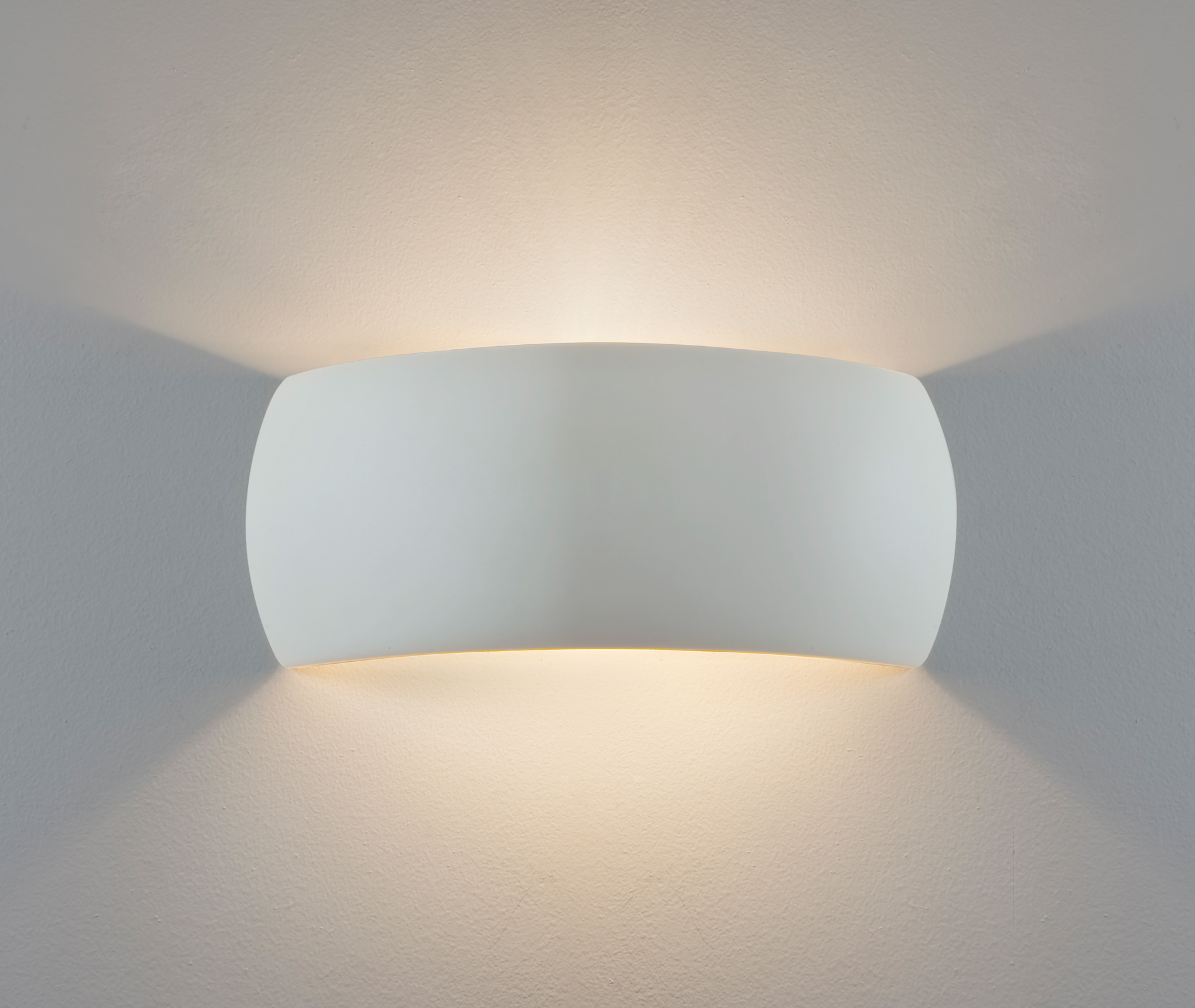 Astro Milo ceramic plaster wall light up down white 60W E27 can be painted