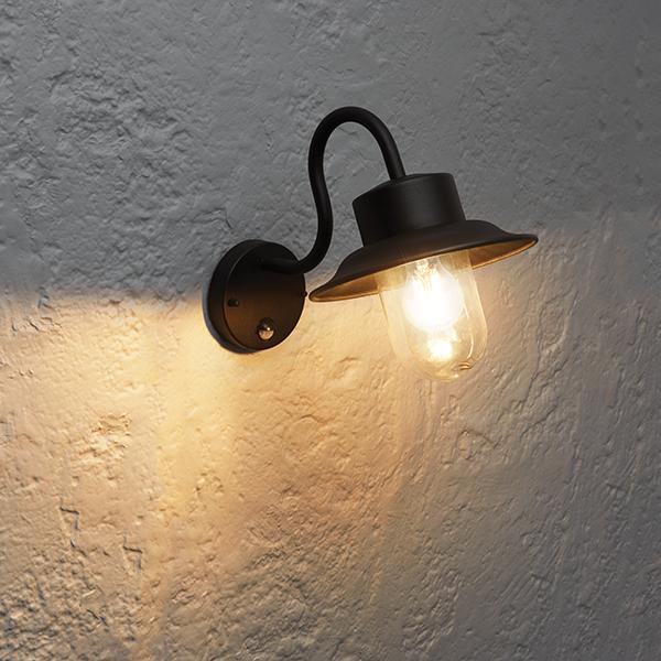 Endon Chesham Outdoor Wall Light Pir Fisherman Lantern 40w