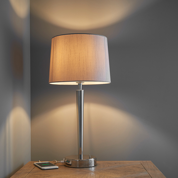 Endon syon table lamp with usb port 40w e14 candle nickel plate endon syon table lamp with usb port 40w e14 candle nickel plate mink shade aloadofball Image collections