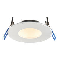 Saxby OrbitalPro Indoor Recessed Fixed Light Matt White IP65 9W (SMD 2835) CCT