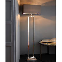 Endon Cassier Floor Lamp Base Modern Geometric Design 60W E27 GLS Nickel Plated