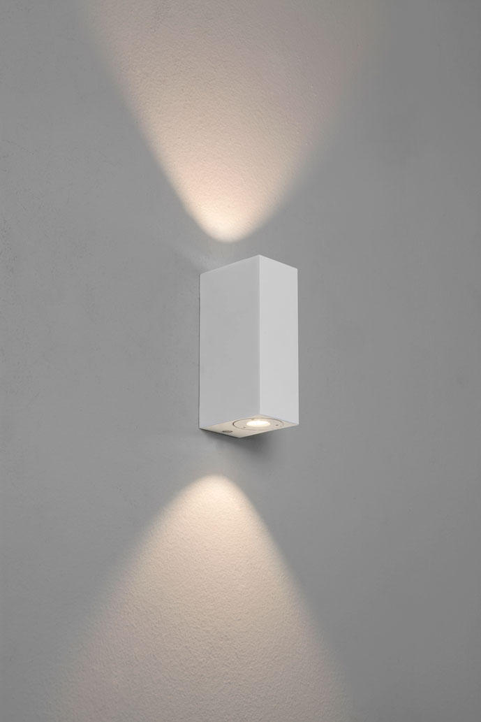 Astro Bloc bathroom LED wall up down light 2 X 1W LED white
