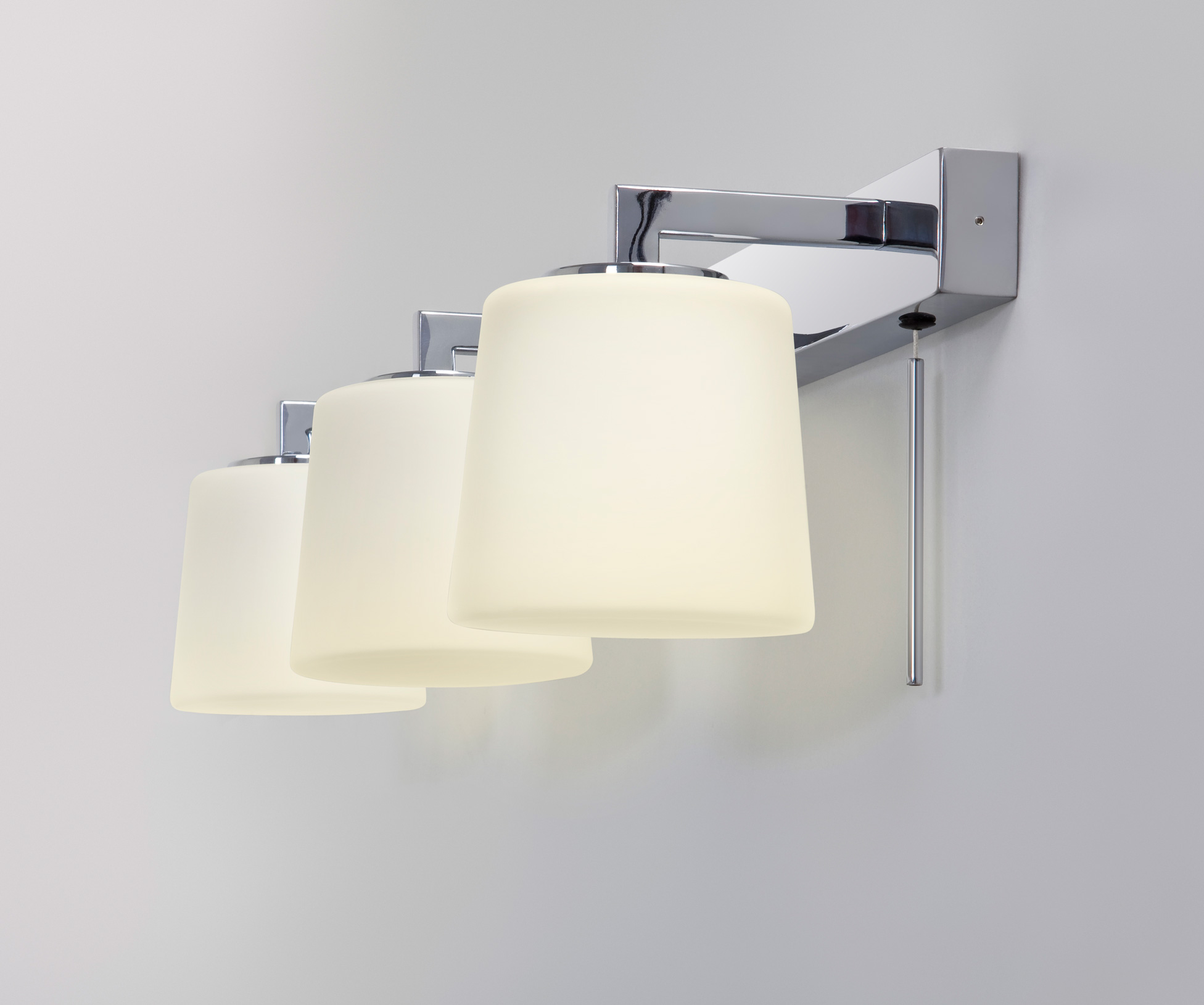 bathroom vanity light with switch astro triplex bathroom mirror wall light 3 x 40w g9 switch 22506