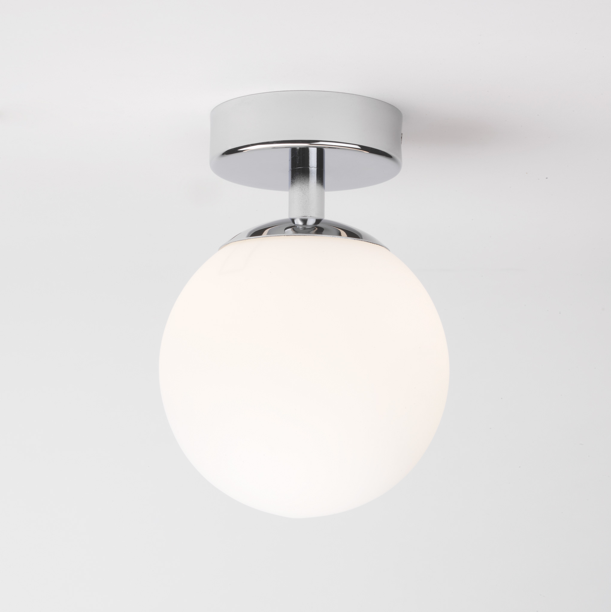 Astro Denver 0323 Bathroom glass small globe ceiling light chrome 40W G9