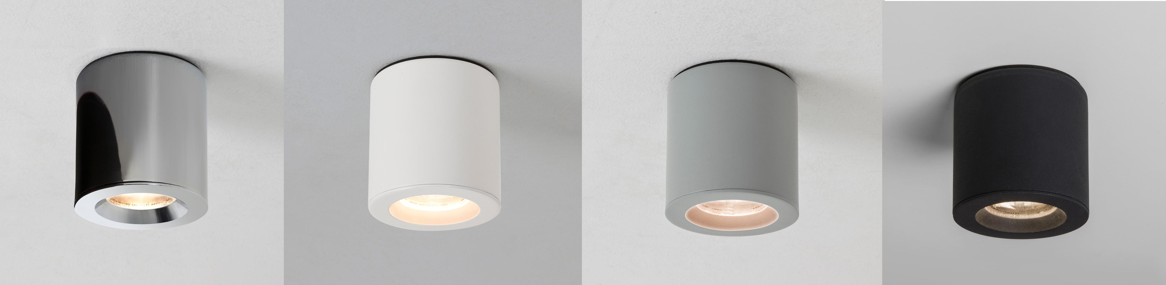 Bathroom Ceiling Light Zone 1 astro kos ip65 zone 1 surface mounted led bathroom round downlight