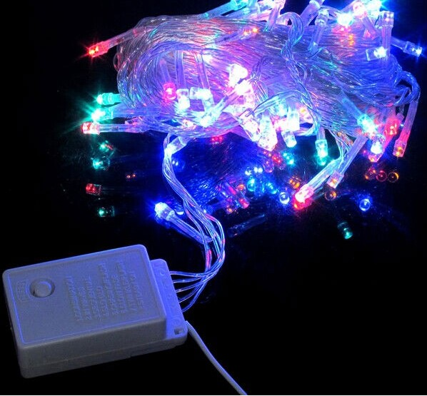IP65 LED christmas tree lights string fairy lights 10m 6W multi function RGB Thumbnail 1