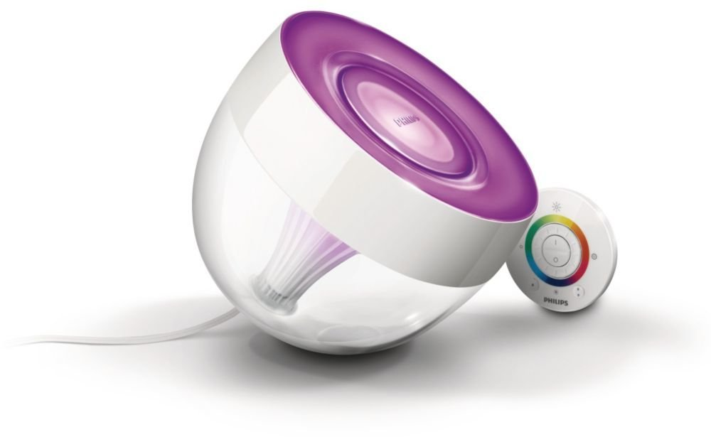 Philips LivingColors Iris LED colour changing table lamp clear remote control