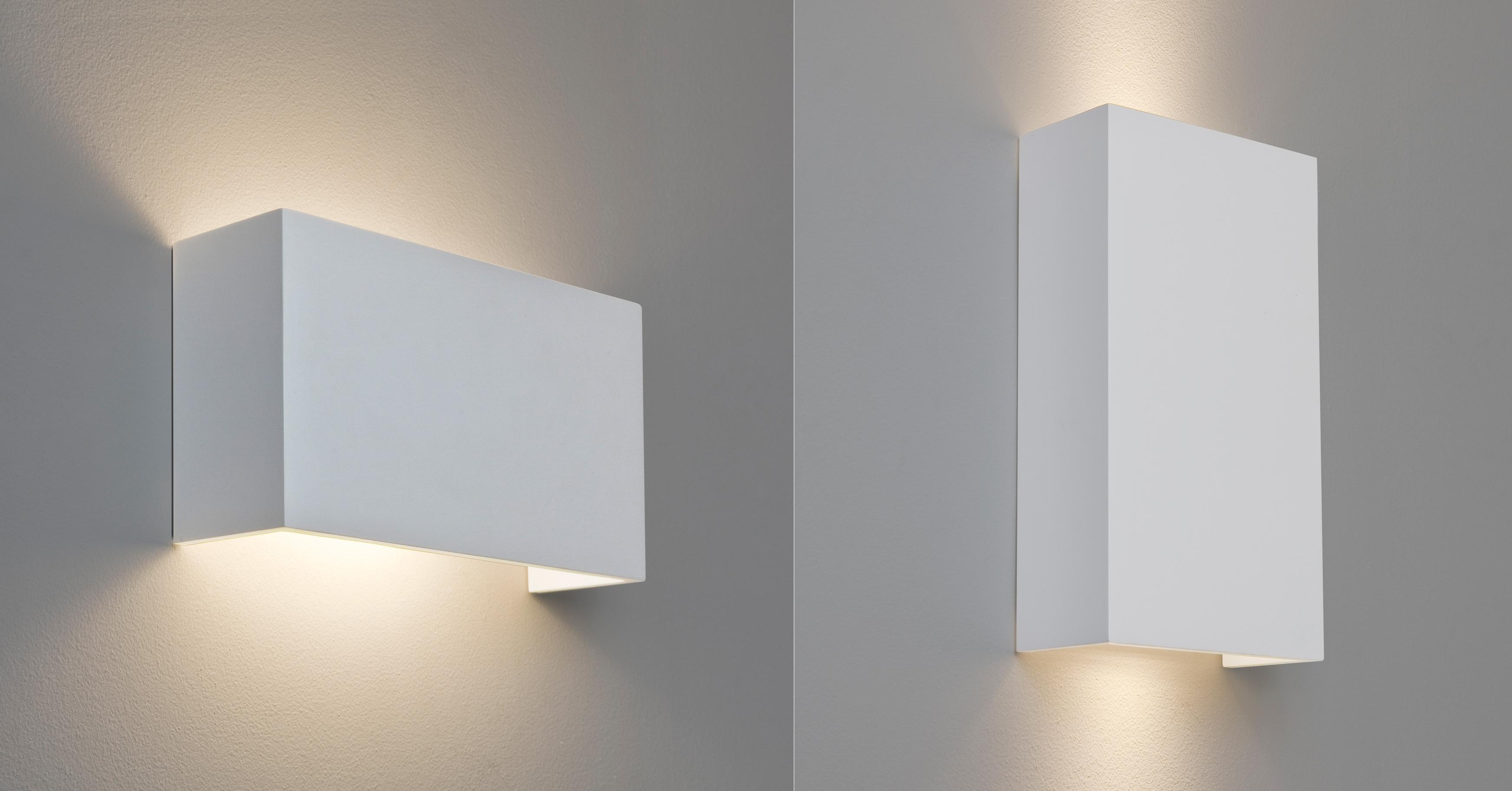 astro pella rectangular plaster ceramic wall light horizontal vertical up down ebay. Black Bedroom Furniture Sets. Home Design Ideas