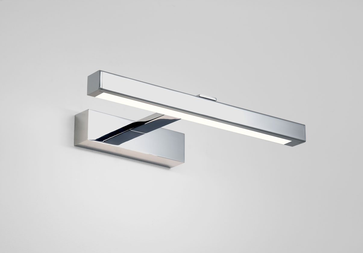 ASTRO Kashima LED 350 bathroom wall mirror light 3.6W LED IP44 polished chrome Thumbnail 1