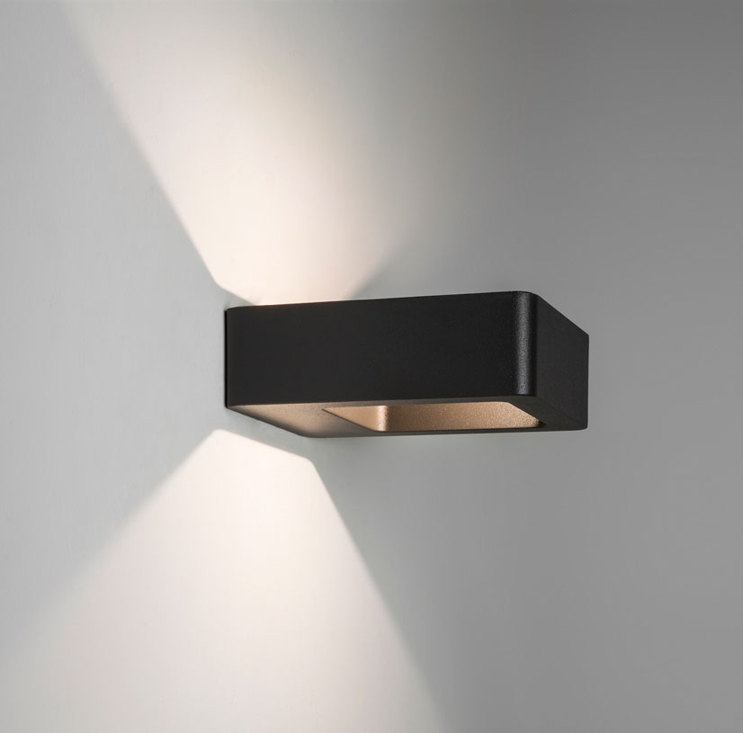 Exterior Wall Lights Up Down : Astro Napier IP54 exterior outdoor LED wall up down light 5W LED black eBay