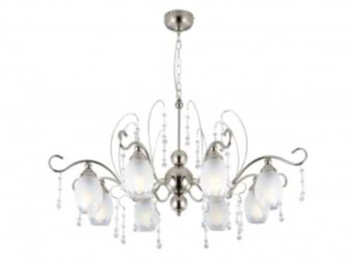 TP24 Grande Majestic 8 arm 8x4W candle LED chandelier chrome ceiling light Thumbnail 1