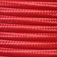 10m pack 3 core 0.75mm round braided fabric electrical lighting flex cable red