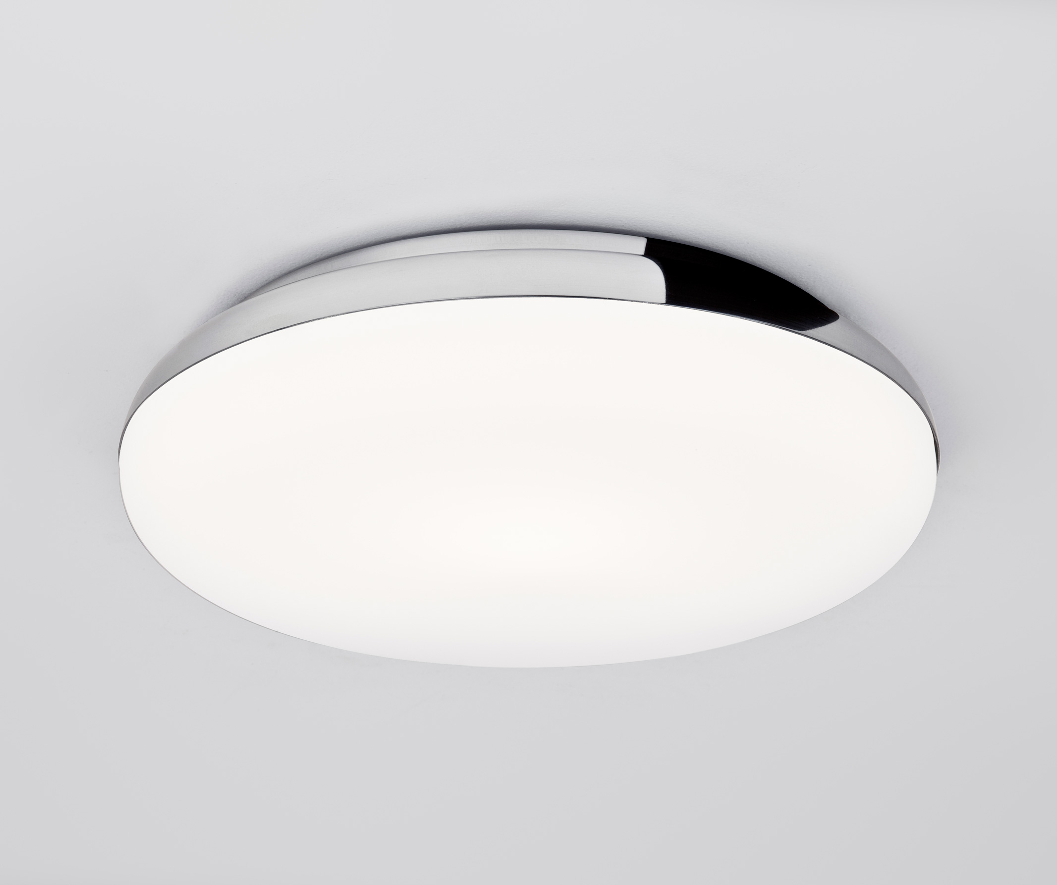 Astro Altea Bathroom 0586 round glass bathroom ceiling light 60W E27 IP44 chrome