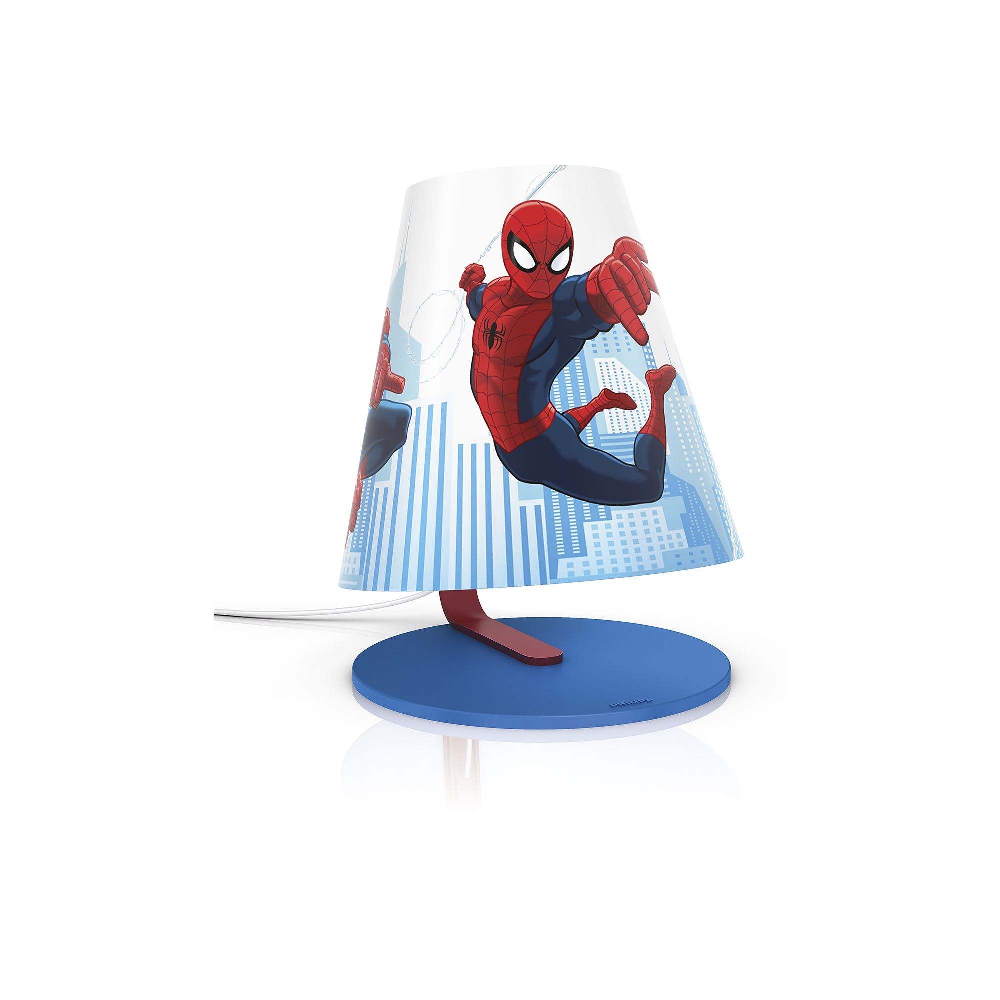 Philips Marvel Spiderman red 4W LED boys table lamp table light  Thumbnail 2