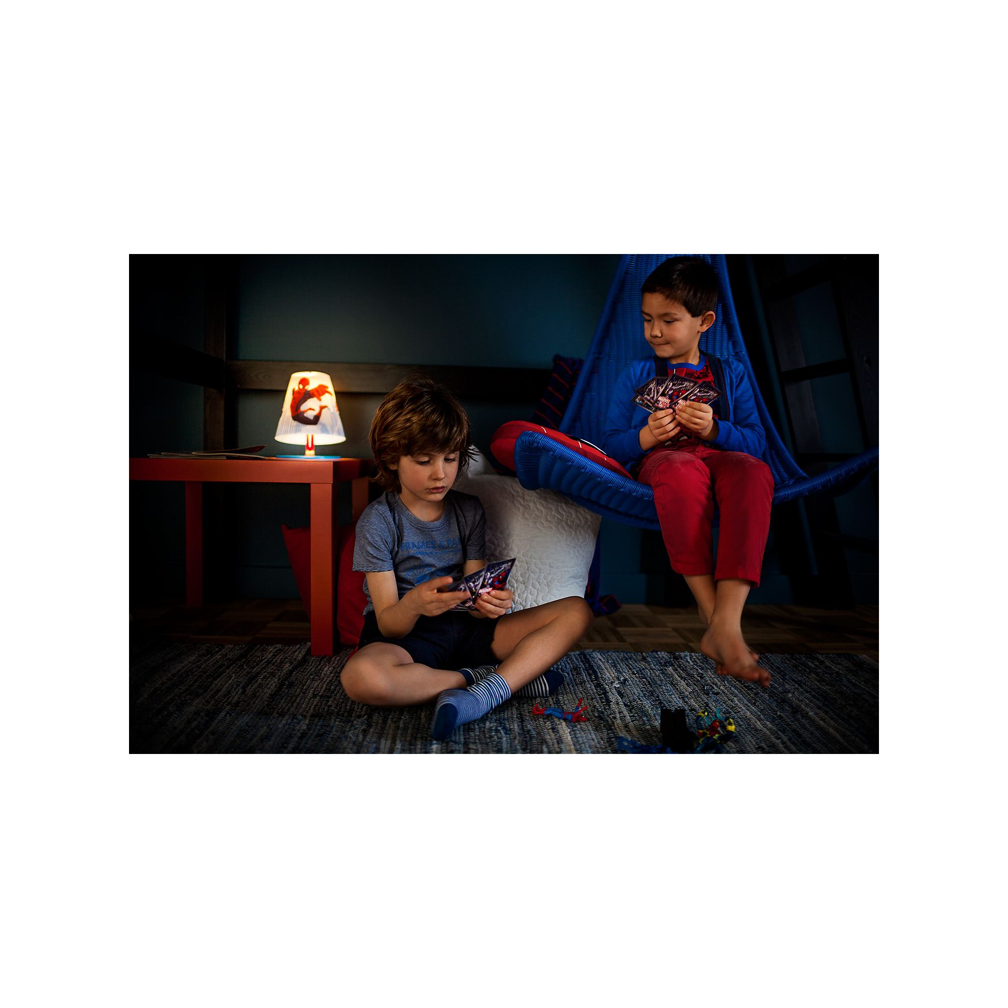 Philips Marvel Spiderman red 4W LED boys table lamp table light  Thumbnail 6