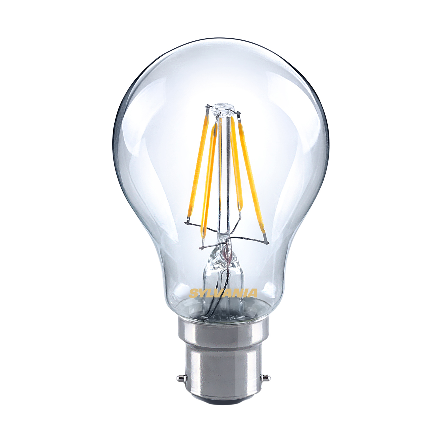 Sylvania 5W LED GLS traditional light bulb B22 BC warm white 2700K non-dimmable Thumbnail 1